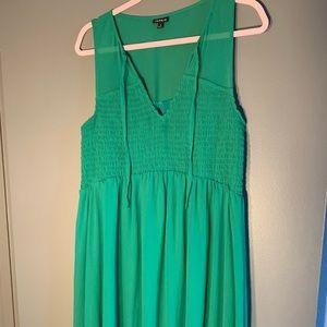 Torrid Green Midi Dress